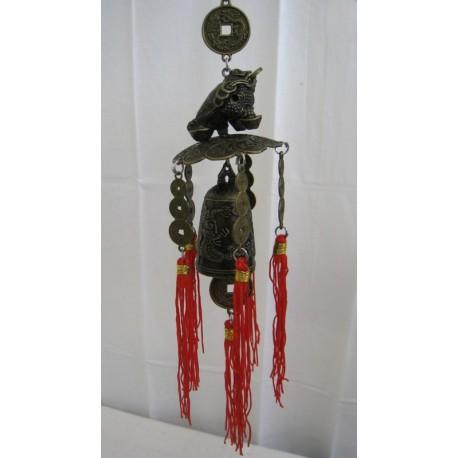 Čínská zvonkohra se žábou