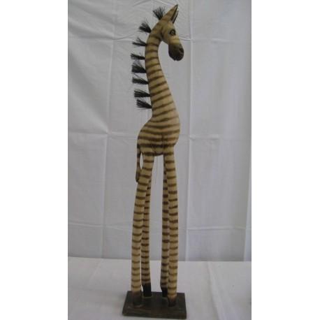 Zebra 80cm - přírodní
