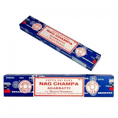 Vonné tyčinky - NAG CHAMPA Satya Sai Baba  (Sada 12 krabiček)