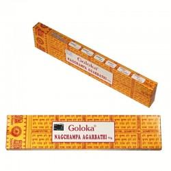 Vonné tyčinky - GOLOKA Nag Champa  (Sada 12 krabiček)