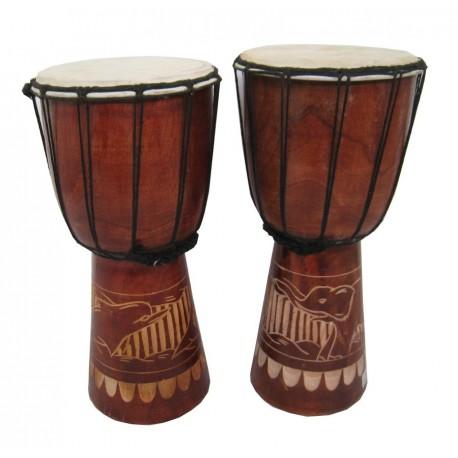 Buben Djembe, Bongo 40cm - vyřezávaný