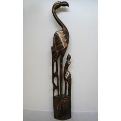 Plameňák s mládětem 100 cm