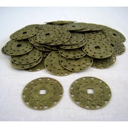Čínské mince 4cm zvěrokruh - 100 kusů