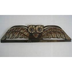 Dřevěná dekorace 80cm - sova