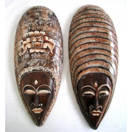 Dřevěná maska 50cm