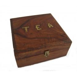Krabička na čaj 18x18x8 cm