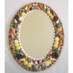Zrcadlo s mušlemi 60cm