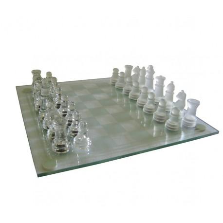 Skleněné šachy 20x20 cm