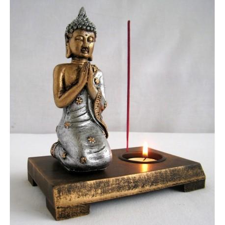 Buddha svícen 14cm