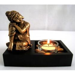 Buddha svícen  9cm x 4cm