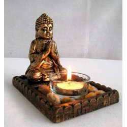 Buddha svícen 10cm x 1cm