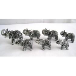 Sada 7 slonů - 8,5cm