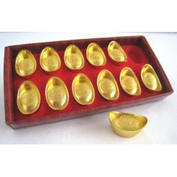 Zlatý INGOT sada 12kusů - 3,3cm
