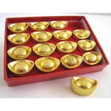 Zlatý INGOT sada 16kusů - 2,4 cm