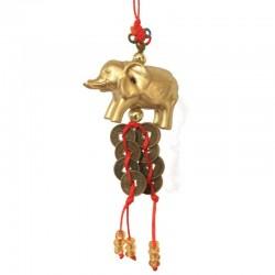 Feng Sui - Ochranný přívěsek slon s mincemi - malý(SADA 12ks)