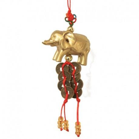Ochranný přívěsek slon s mincemi - malý(SADA 12ks)