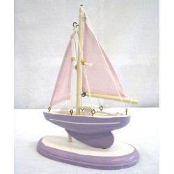 Dřevěná loď, plachetnice 20cm