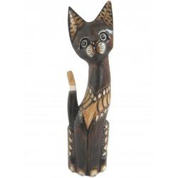 Kočka sedící zdobená 40cm