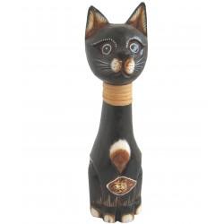 Kočka sedící -provazový obojek 35cm