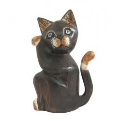 Kočka sedící bokem 20cm