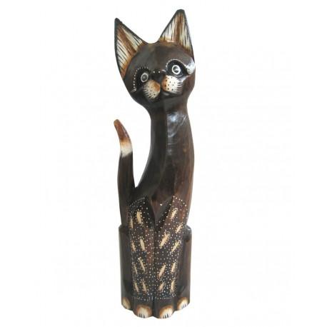 Kočka sedící zdobené nohy 40cm