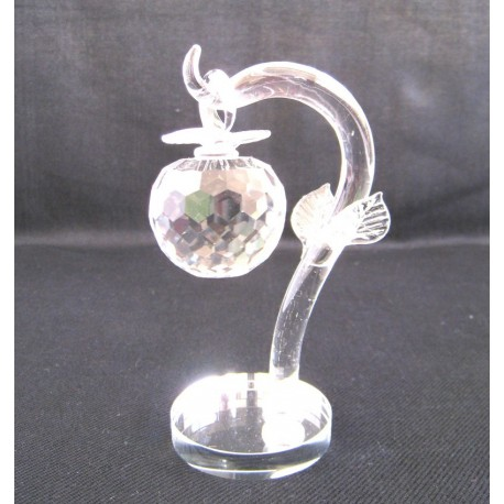 Křišťálový skleněný strom s jablkem 14cm