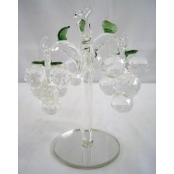 Křišťálový skleněný strom s hrozny 17 cm