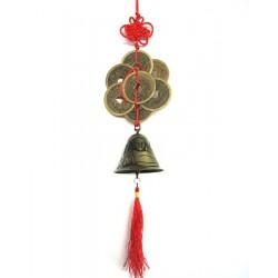 Ochranný čínský ověs - zvonek s mincemi