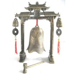 Zvonek šťestí s gongem 21cm