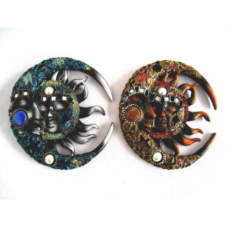Maska 16cm - slunce a měsíc