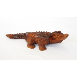 Dřevěný krokodýl - 40cm