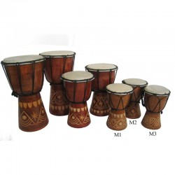 Buben Djembe, Bongo 15cm - vyřezávaný
