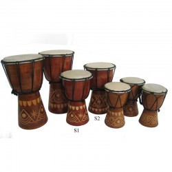 Buben Djembe, Bongo 20cm - vyřezávaný