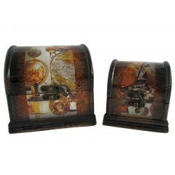 Šperkovnice Sada -2ks-14x14x13 cm