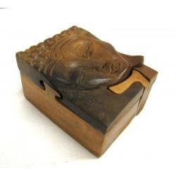 Magická dřevěná krabička - Buddha