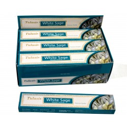 Vonné tyčinky -WHITE SAGE masala  (Sada 12 krabiček)