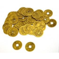 Čínské mince 2,8cm - 200 kusů