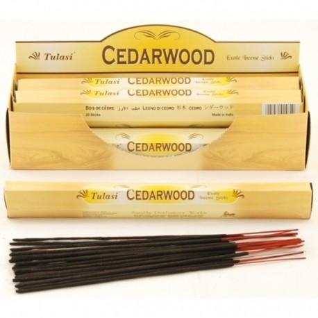 Vonné tyčinky - CEDARWOOD  (Sada 6 krabiček)
