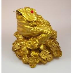 Třínohá žába střežící mince-velký