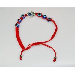 Červeny náramek s  alláhovým okem-(SADA 12ks)