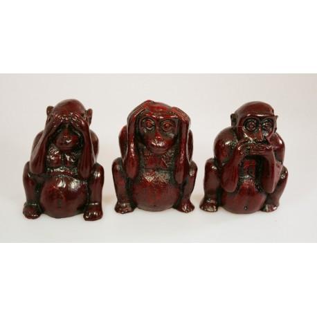 """Opice 6,5cm """"nevidím, neslyším, nemluvím"""" - 3ks"""