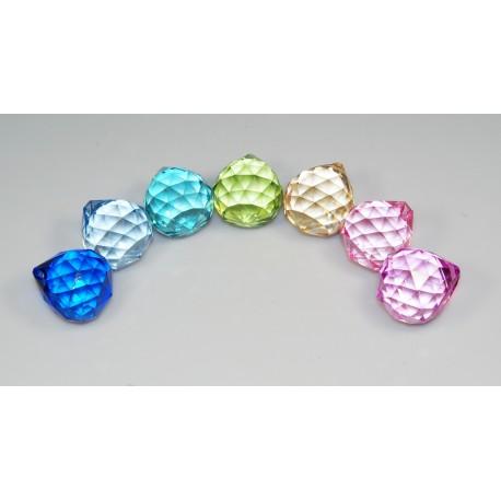 Křišťálová kapka 5cm - barevná
