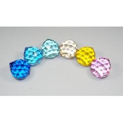 Křišťálová kapka 2cm - barevná (sada 12 kusu)