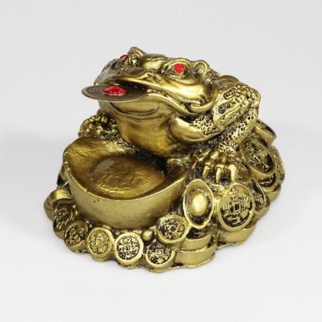 Třínohá žába střežící mince