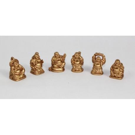 Buddha zlaty (sada-6 kusů)