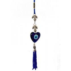 Alláhovo modré oko - srdce s korálky-(SADA 12ks)