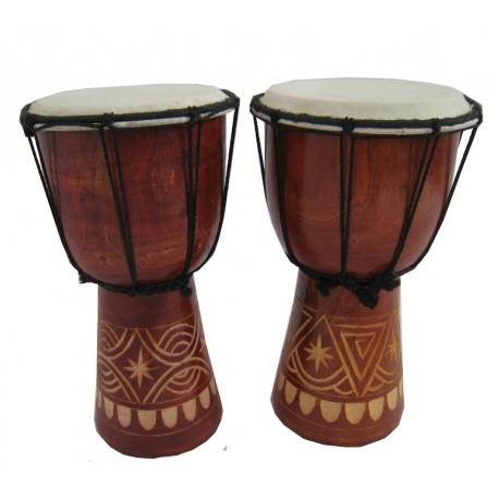 Buben Djembe, Bongo 30cm - vyřezávaný