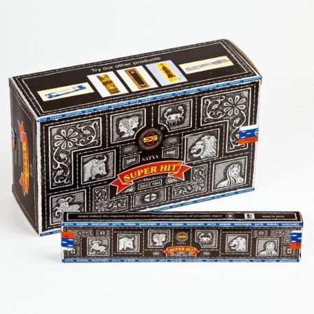 Vonné tyčinky - SUPERHIT Satya  (Sada 12 krabiček)