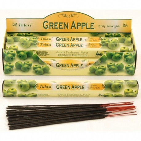 Vonné tyčinky - GREEN APPLE (Sada 6 krabiček)