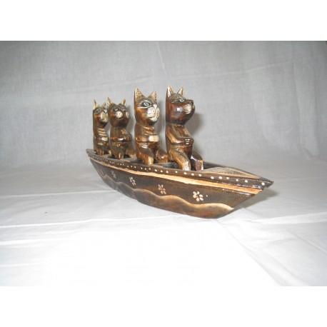 Kočky v lodi 35cm